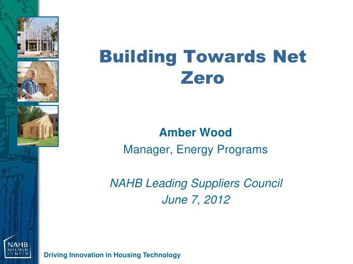 Building Towards Net                         Zero                            Amber Wood                       Manager, Ene...
