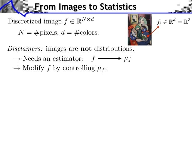 From Images to Statistics         Source image (X )Discretized image f      RN   d                                        ...