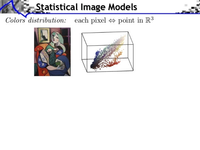 Statistical Image ModelsColors distribution: ) each pixel         Source image (X                           point in R3   ...