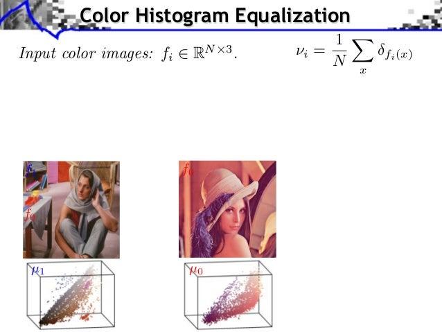 pplication to Color Transfer                Color Histogram Equalization                                                  ...