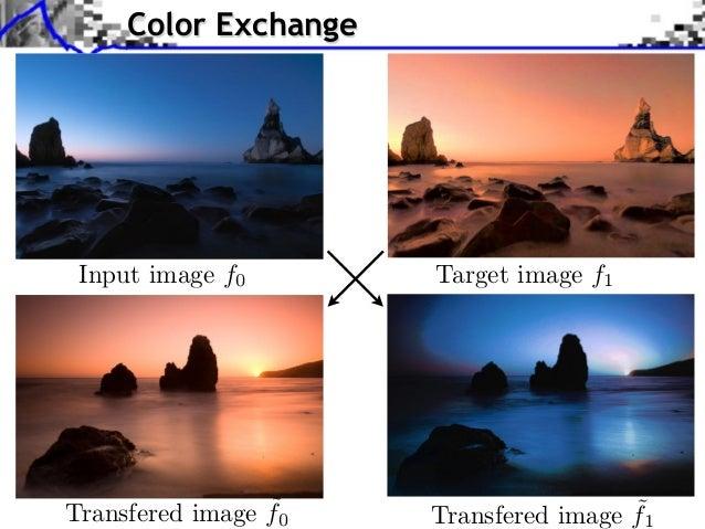 Color ExchangeSource image (X (X ) Source image )Source image (XfInput image ) Source image (X )               0       Tar...