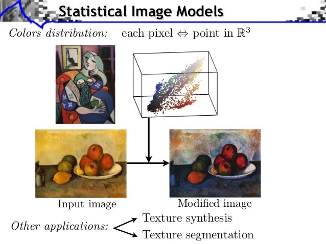 Statistical Image ModelsColors distribution: ) each pixel         Source image (X                                         ...