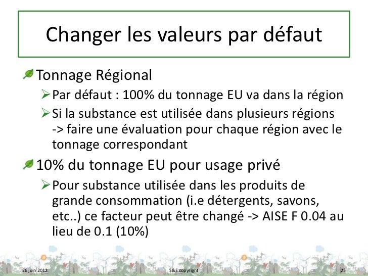 Changer les valeurs par défaut      Tonnage Régional        Par défaut : 100% du tonnage EU va dans la région        Si ...