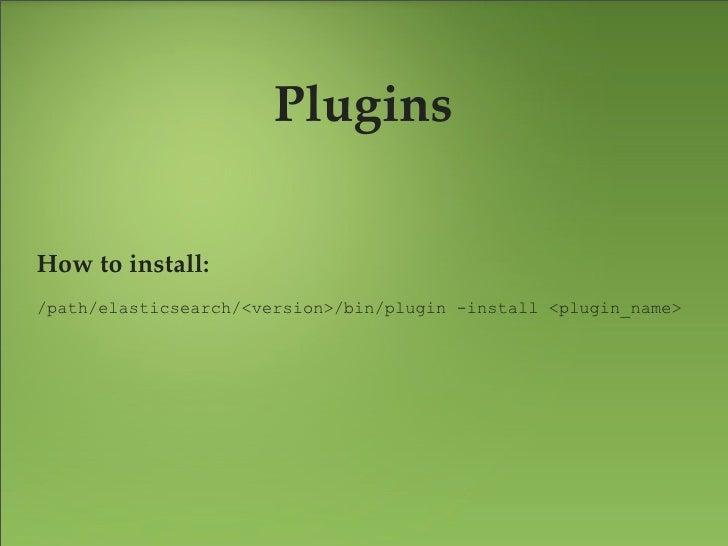 Plugin - BigDeskLive charts and statistics for ElasticSearch cluster.    https://github.com/lukas-vlcek/bigdesk