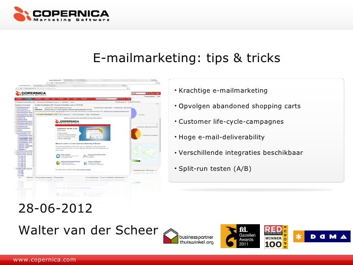 E-mailmarketing: tips & tricks                                 • Krachtige e-mailmarketing                                ...