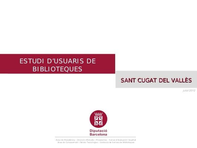 Estudi d'usuaris de biblioteques                                                                                          ...