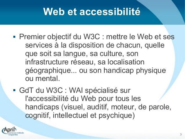 Des vidéos libres et accessibles sur le Web, un pari impossible ? - RMLL 2012 Slide 3