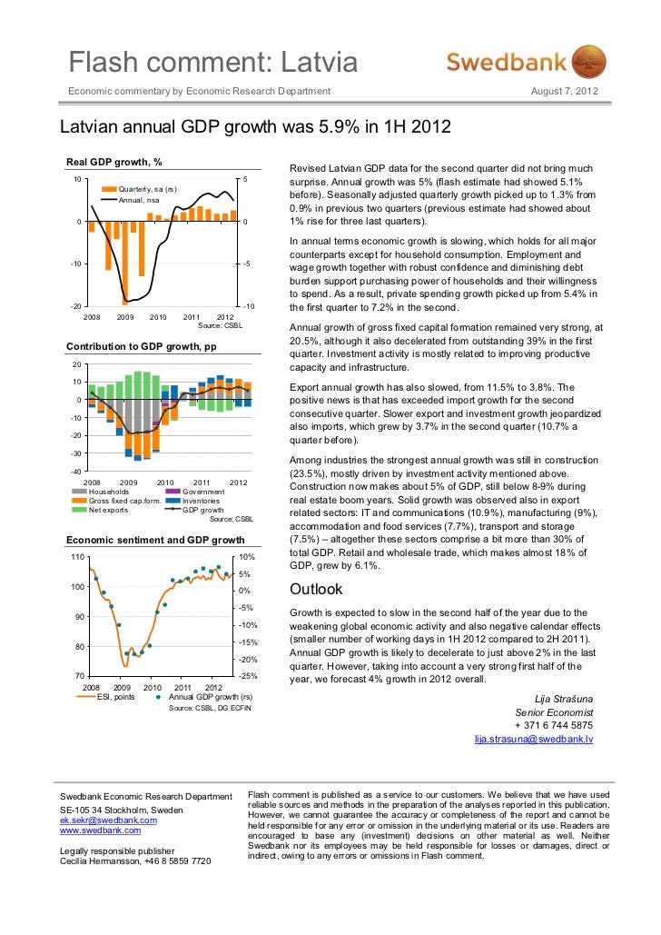 Flash comment: Latvia Economic commentary by Economic Research Department                                                 ...