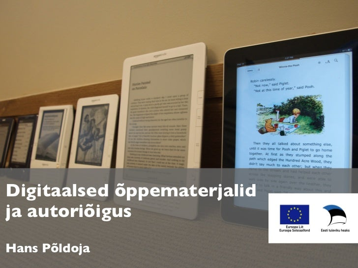 Digitaalsed õppematerjalidja autoriõigusHans Põldoja