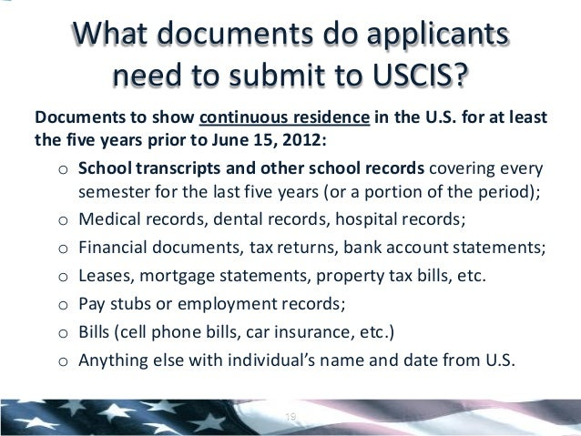 Deferred action for childhood arrivals presentation leases listing you as a resident 18 19 ccuart Images