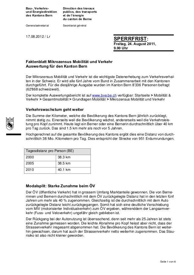 Bau-, Verkehrs-          Direction des travauxund Energiedirektion     publics, des transportsdes Kantons Bern         et ...