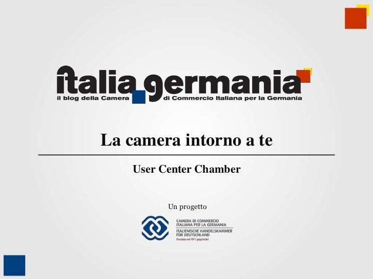 La camera intorno a te    User Center Chamber          Un progetto