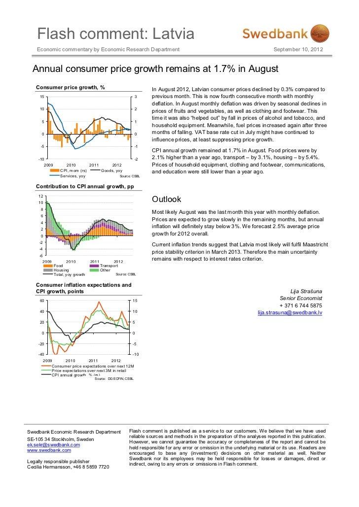 Flash comment: Latvia    Economic commentary by Economic Research Department                                              ...