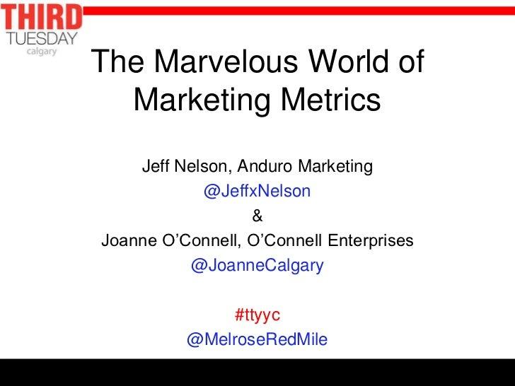 The Marvelous World of  Marketing Metrics    Jeff Nelson, Anduro Marketing            @JeffxNelson                  &Joann...