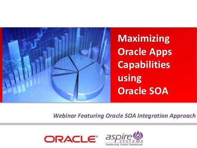 Webinar Featuring Oracle SOA Integration Approach Maximizing Oracle Apps Capabilities using Oracle SOA