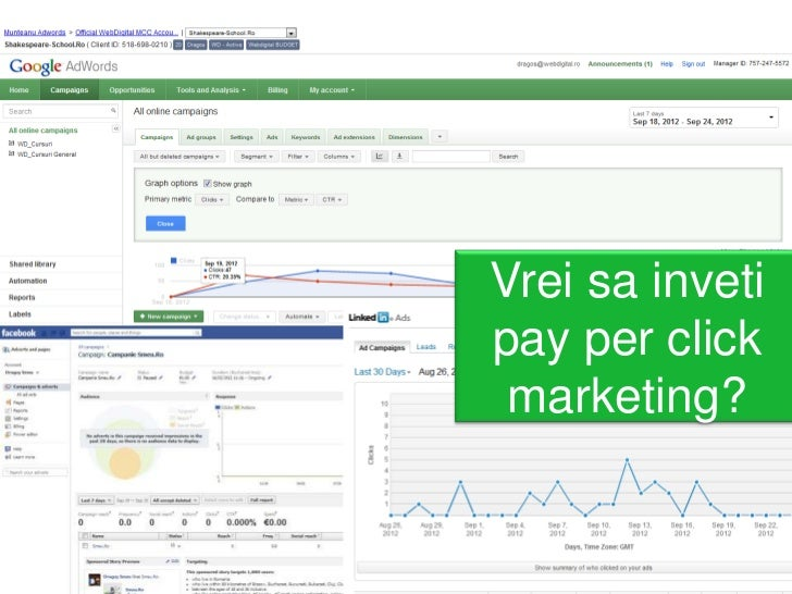 Vrei sa invetipay per click marketing?