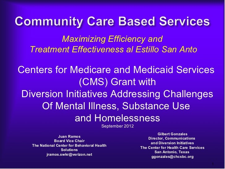 Maximizing Efficiency and  Treatment Effectiveness al Estillo San AntoCenters for Medicare and Medicaid Services          ...