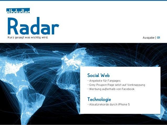 RadarKurz gesagt was wichtig wird.                                         Ausgabe | 01                                Soc...