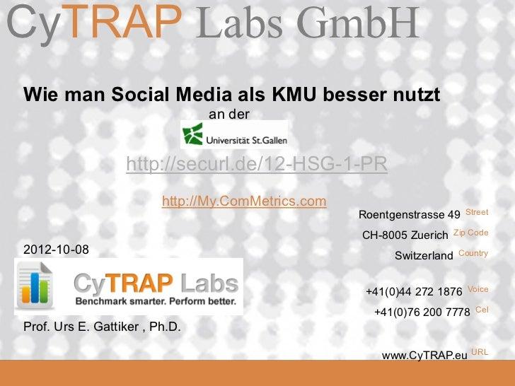 CyTRAP Labs GmbHCyTRAP.eu Wie man Social Media als KMU besser nutzt                                 an der                ...