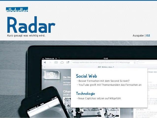 RadarKurz gesagt was wichtig wird.                                                   Ausgabe | 02                         ...