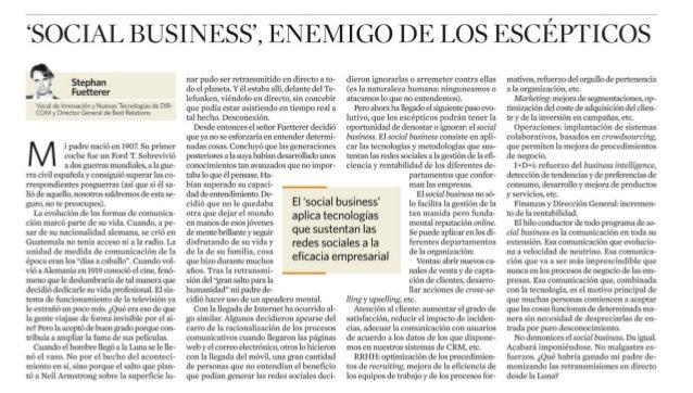 """Social business"", enemigo de los escépticos"