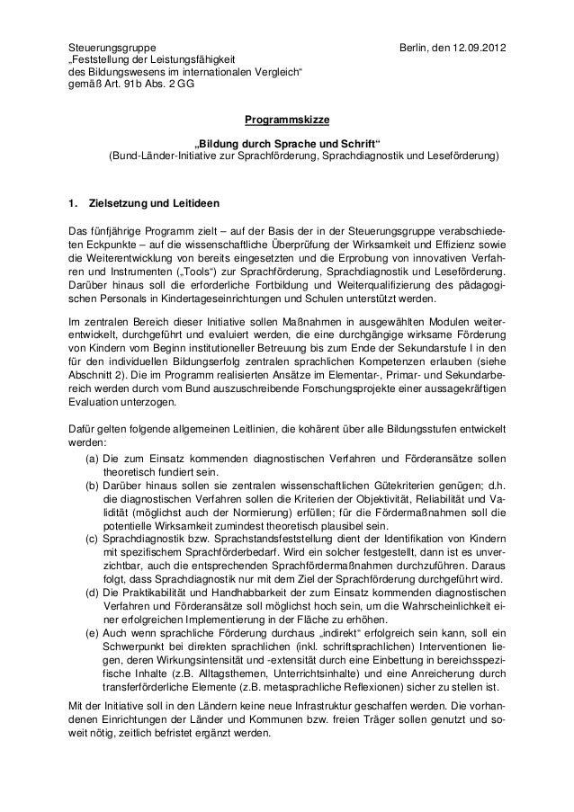 "Steuerungsgruppe                                                         Berlin, den 12.09.2012""Feststellung der Leistungs..."