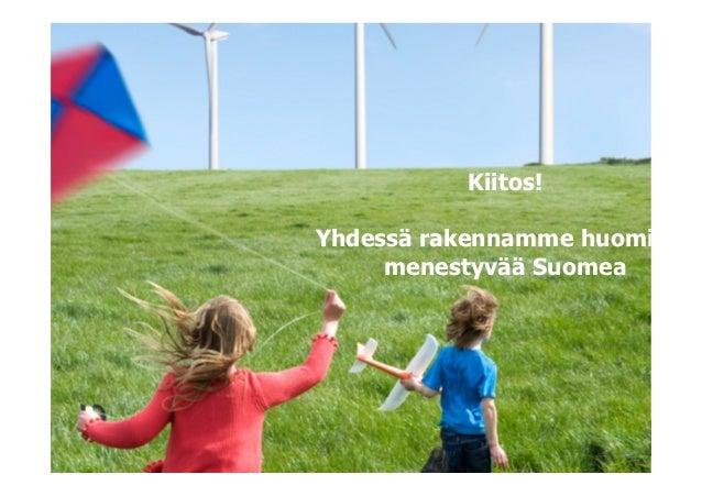 Kiitos!Yhdessä rakennamme huomise     menestyvää Suomea                    © Sitra
