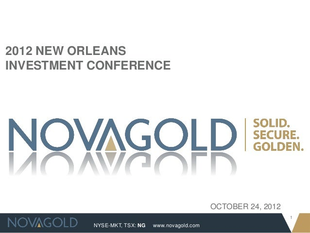 2012 NEW ORLEANSINVESTMENT CONFERENCE                                                  OCTOBER 24, 2012                   ...