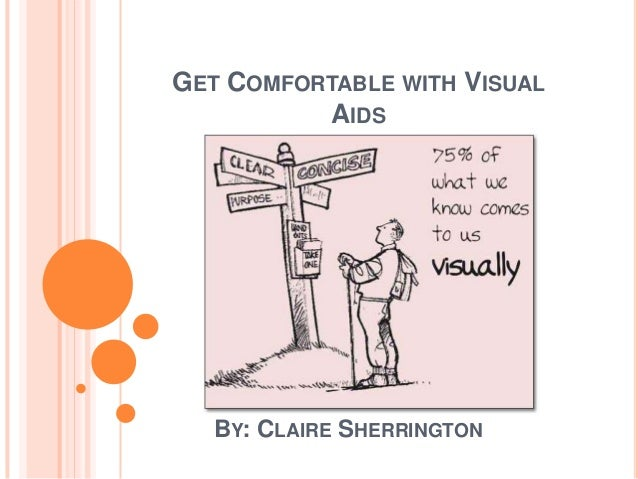 GET COMFORTABLE WITH VISUAL          AIDS   BY: CLAIRE SHERRINGTON