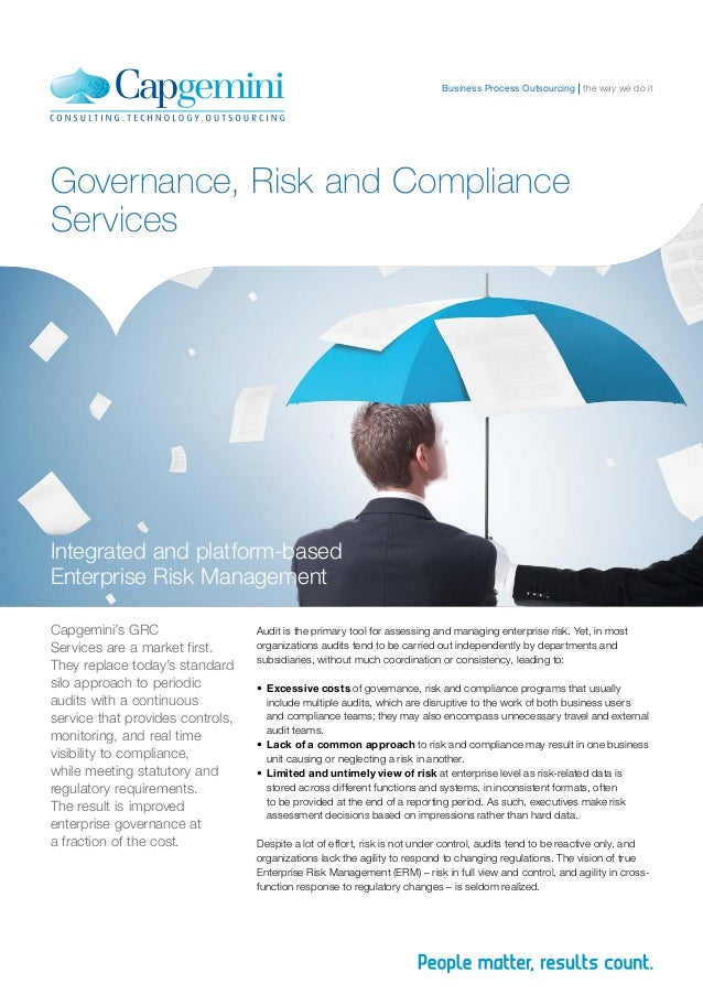 Business Process Outsourcing the way we do itGovernance, Risk and ComplianceServicesIntegrated and platform-basedEnterpris...