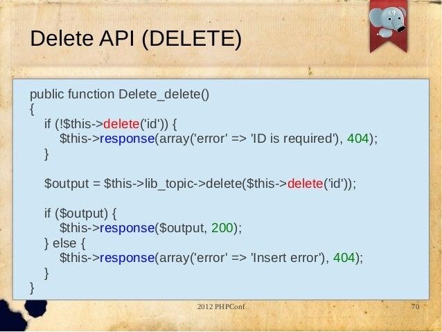 RESTful API Design & Implementation with CodeIgniter PHP Framework
