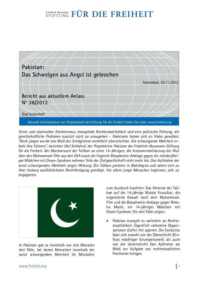 www.freiheit.org I1 Terror und islamischer Extremismus, mangelnde Rechtsstaatlichkeit und eine politische Führung, die ges...
