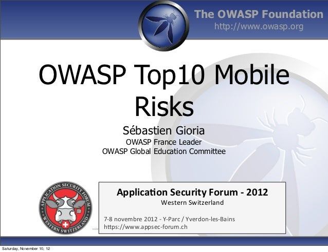 The OWASP Foundation                                                                                          http://www.o...