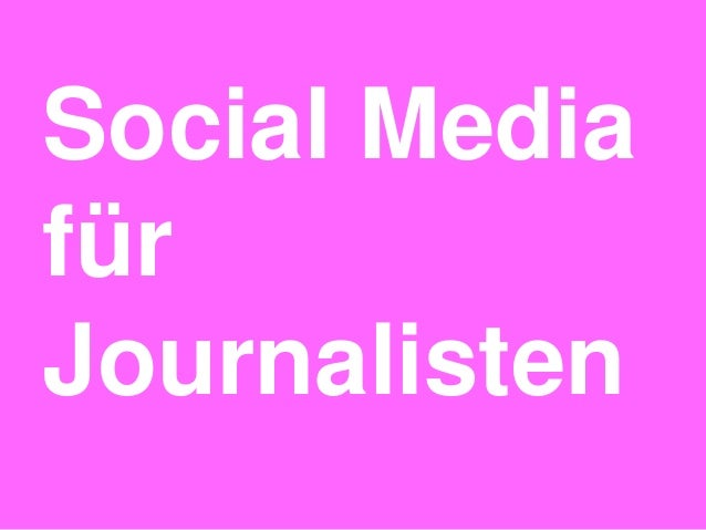Social MediafürJournalisten