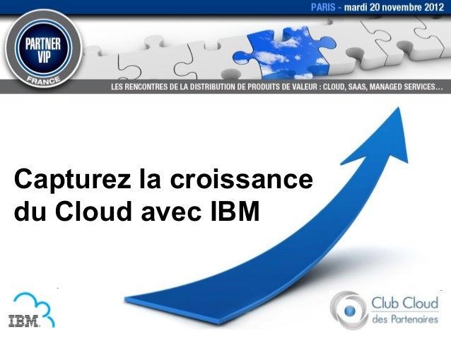 Capturez la croissancedu Cloud avec IBM