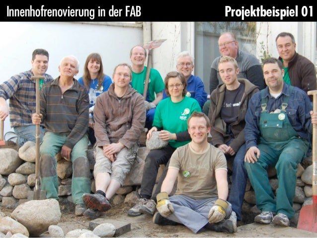 Innenhofrenovierung in der FAB   Projektbeispiel 01