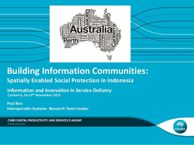 Building Information Communities: Spatially Enabled Social Protection in Indonesia Information and Innovation in Service D...