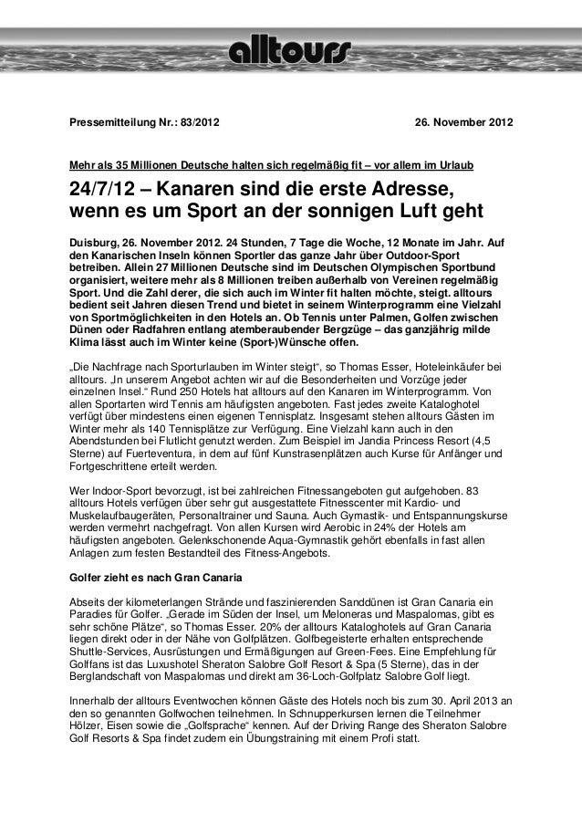 Pressemitteilung Nr.: 83/2012                                         26. November 2012Mehr als 35 Millionen Deutsche halt...