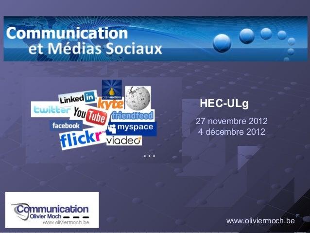 HEC-ULg27 novembre 20124 décembre 2012      www.oliviermoch.be
