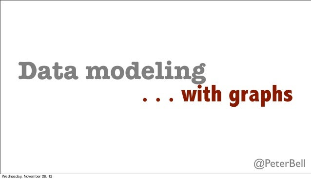 Data modeling                             . . . with graphs                                         @PeterBellWednesday, N...