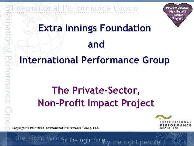 Private Sector,                                                                Non-Profit                                 ...