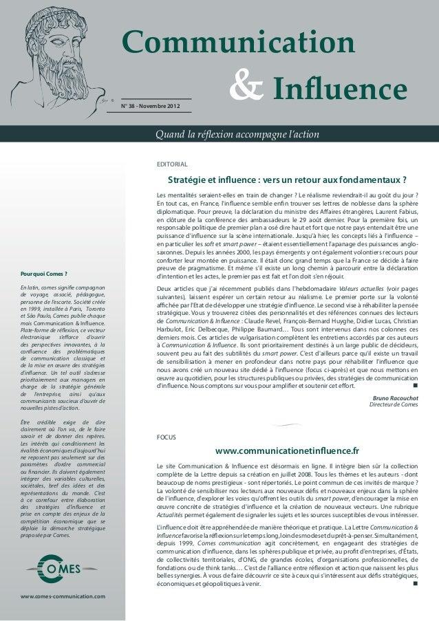 Communication                                           & Influence                                       N° 38 - Nove...