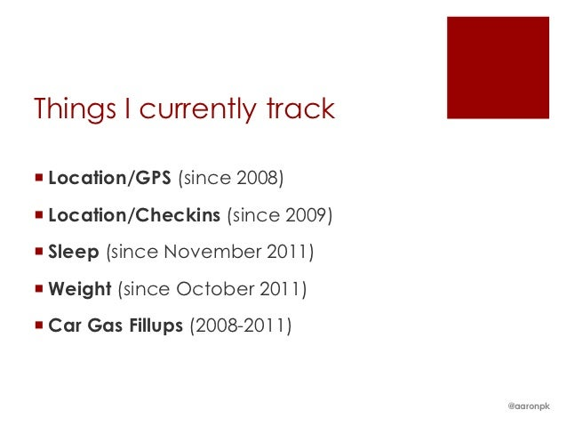 Low Friction Personal Data Collection - CyborgCamp 2012 Slide 2