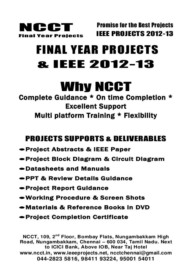 2012 11 Ieee Embedded System Project Titles Ncct Ieee