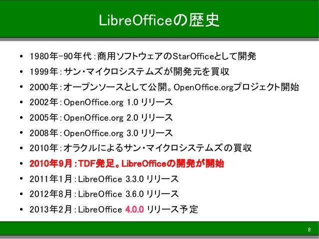 オープンソースの統合オフィスソフトLibreOfficeの最新動向 OSC2012 Fukuoka