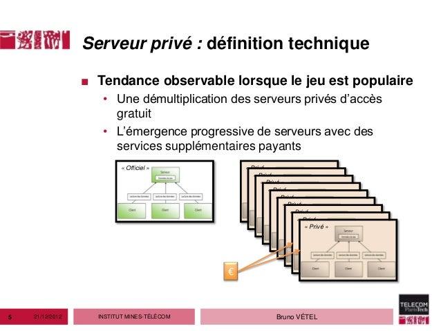 Serveur privé : définition technique                 ■ Tendance observable lorsque le jeu est populaire                   ...