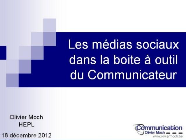 Les médias et                                            les réseaux sociaux                                            ne...
