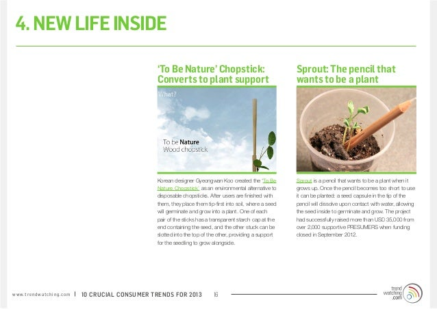 4. NEW LIFE INSIDE                                                                 'To Be Nature' Chopstick:              ...