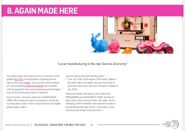 """8. AGAIN MADE HERE                                                          """"Local manufacturing is the new Service Econom..."""