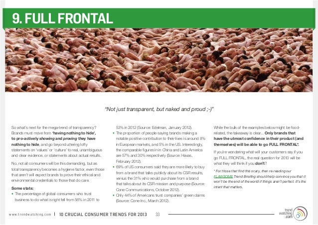 """9. FULL FRONTAL                                                              """"Not just transparent, but naked and proud ;-..."""